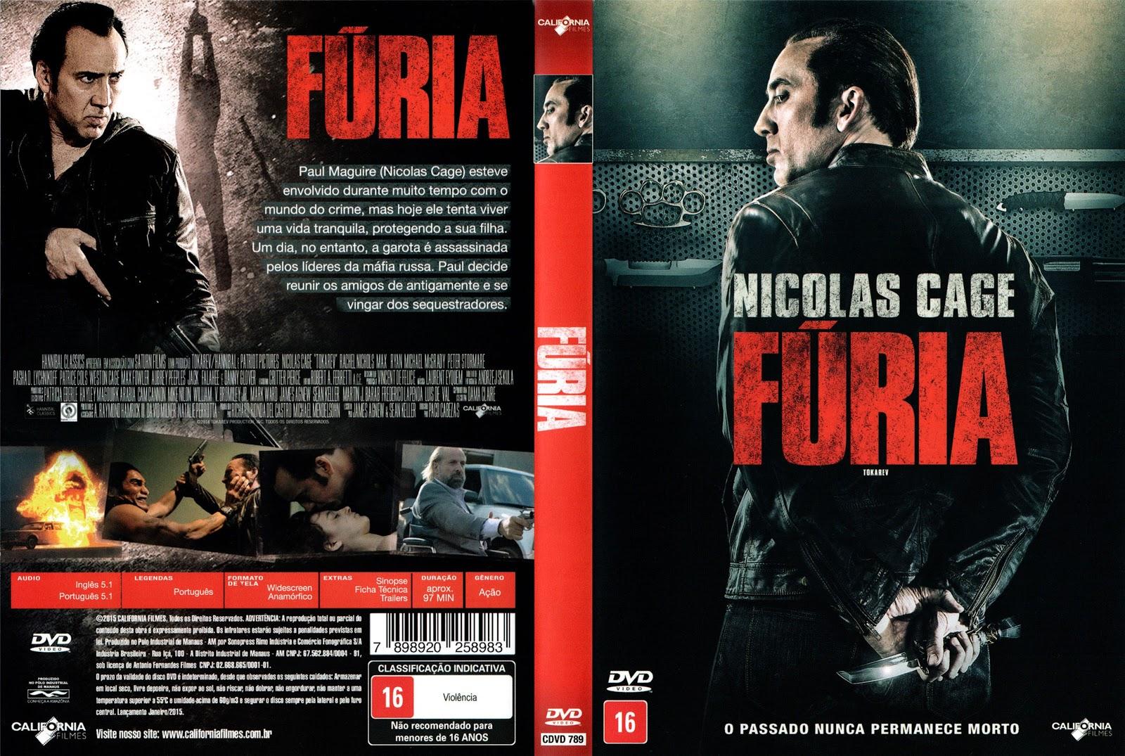Capa DVD Fúria