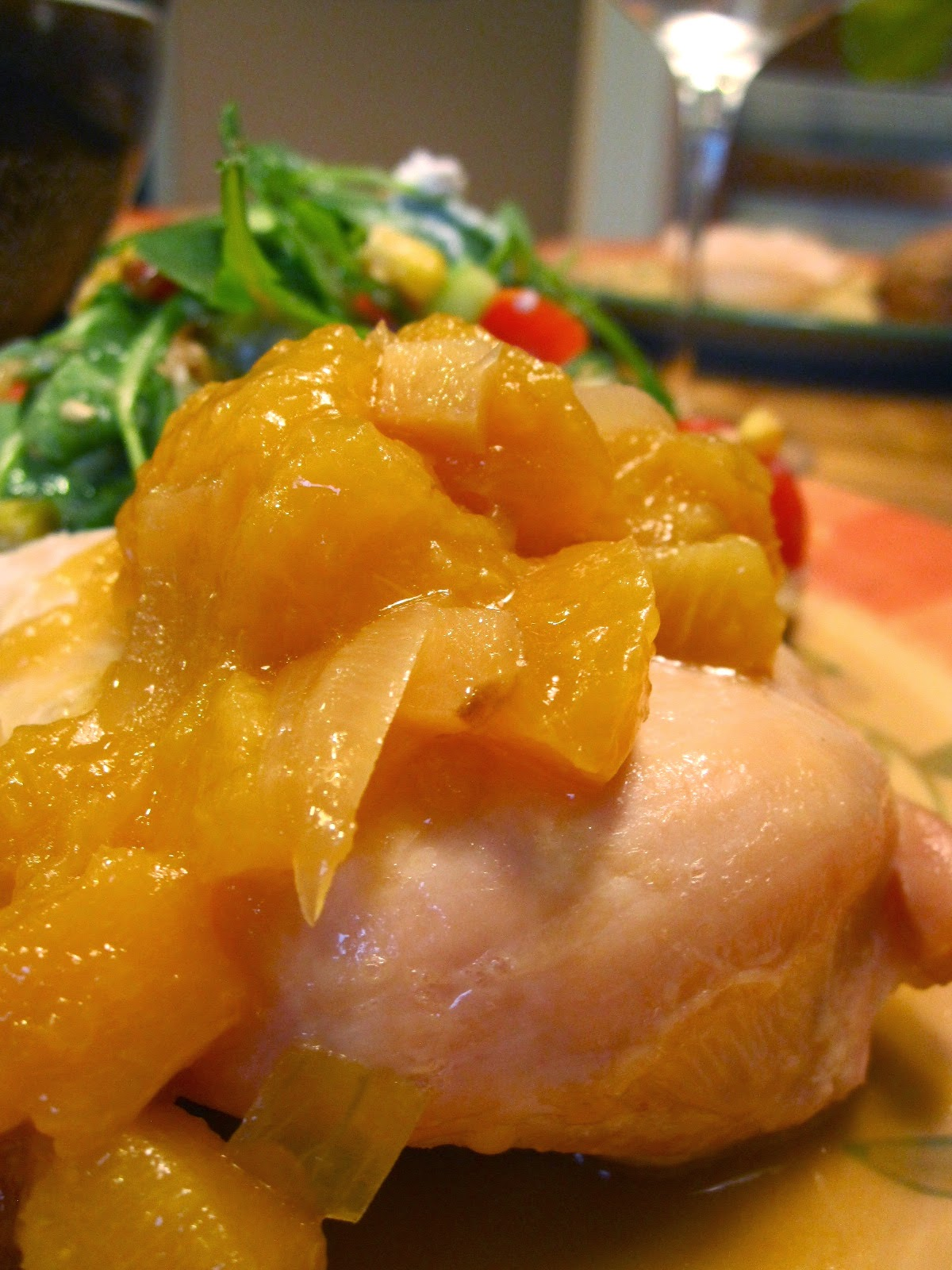 Kvell in the Kitchen: Grilled Chicken with Ginger Peach Sauce