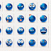 Blue Emoticons 40 Smilies Icons Pack