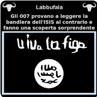 ISIS, bandiera, 007, servizi segreti, vignetta satira