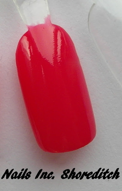 bright pink nail polish swatch