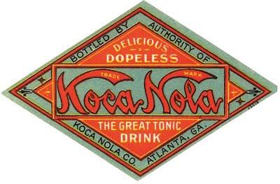 Logo de Koka Nola, (imitación de Coca-Cola)