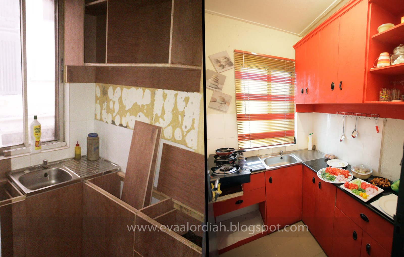 Makeover My Studio pad Kitchen Before After Eva