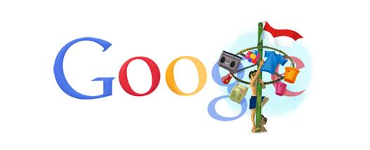 Logo google doodle 17 agustus tahun 2011