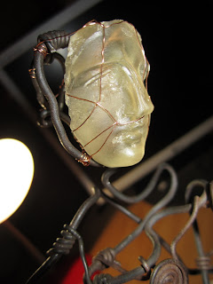 aphrodite, craft Metal Wire and glass sculpture by metris