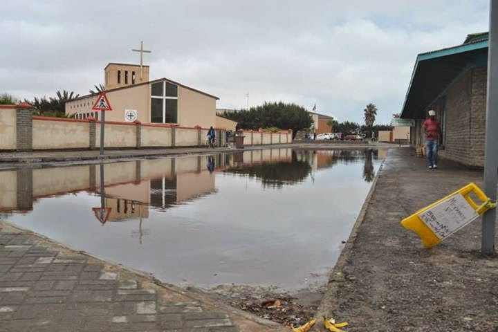 Flood in Walvis Bay Namibia