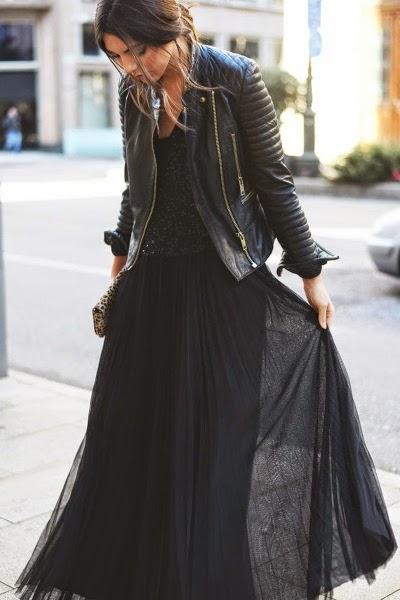tenue cuir tutu jupon rock grunge