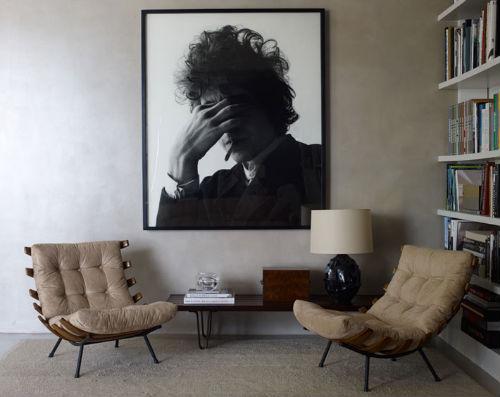 Wohnzimmer Mit Foto Von Bob Dylan