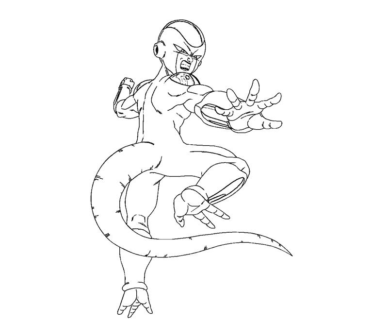 dbz coloring pages frieza - photo#6