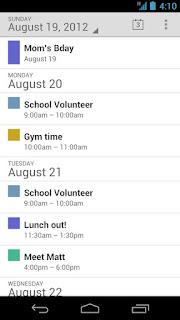 google Calendar preview