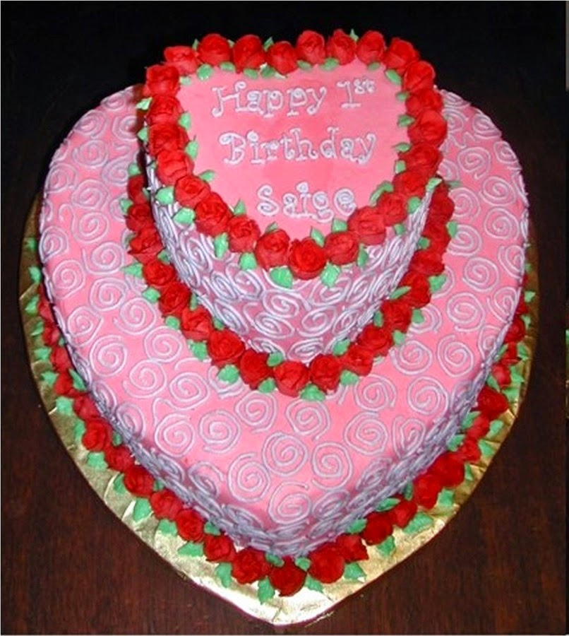 Hd Images Of Heart Cake : HD BIRTHDAY WALLPAPER : Birthday heart cake for lover