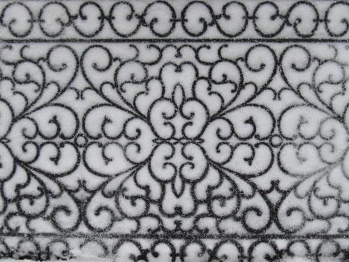 snowy mat