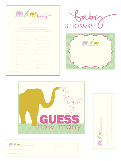 picture about Free Printable Baby Shower Labels titled Libbie Grove Style: Free of charge Printables: Kid Shower Video games