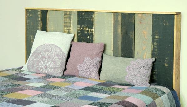 Transformers cabezal de cama con un pallet - Fabriquer une tete de lit en bois de palette ...