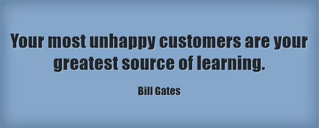 Customer service quote from Bill Gates