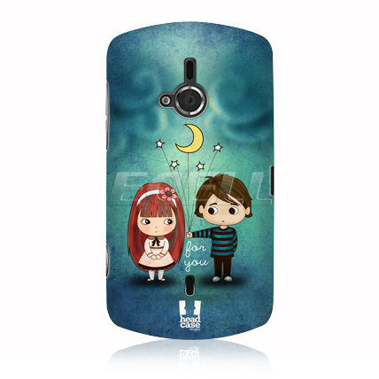 HEAD CASE THE MOON & STARS CUTE EMO LOVE CASE FOR SONY LIVE WITH WALKMAN WT19i