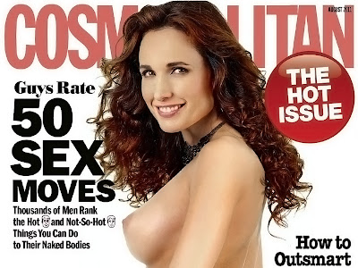 Andie MacDowell topless on the Cosmopolitan cover