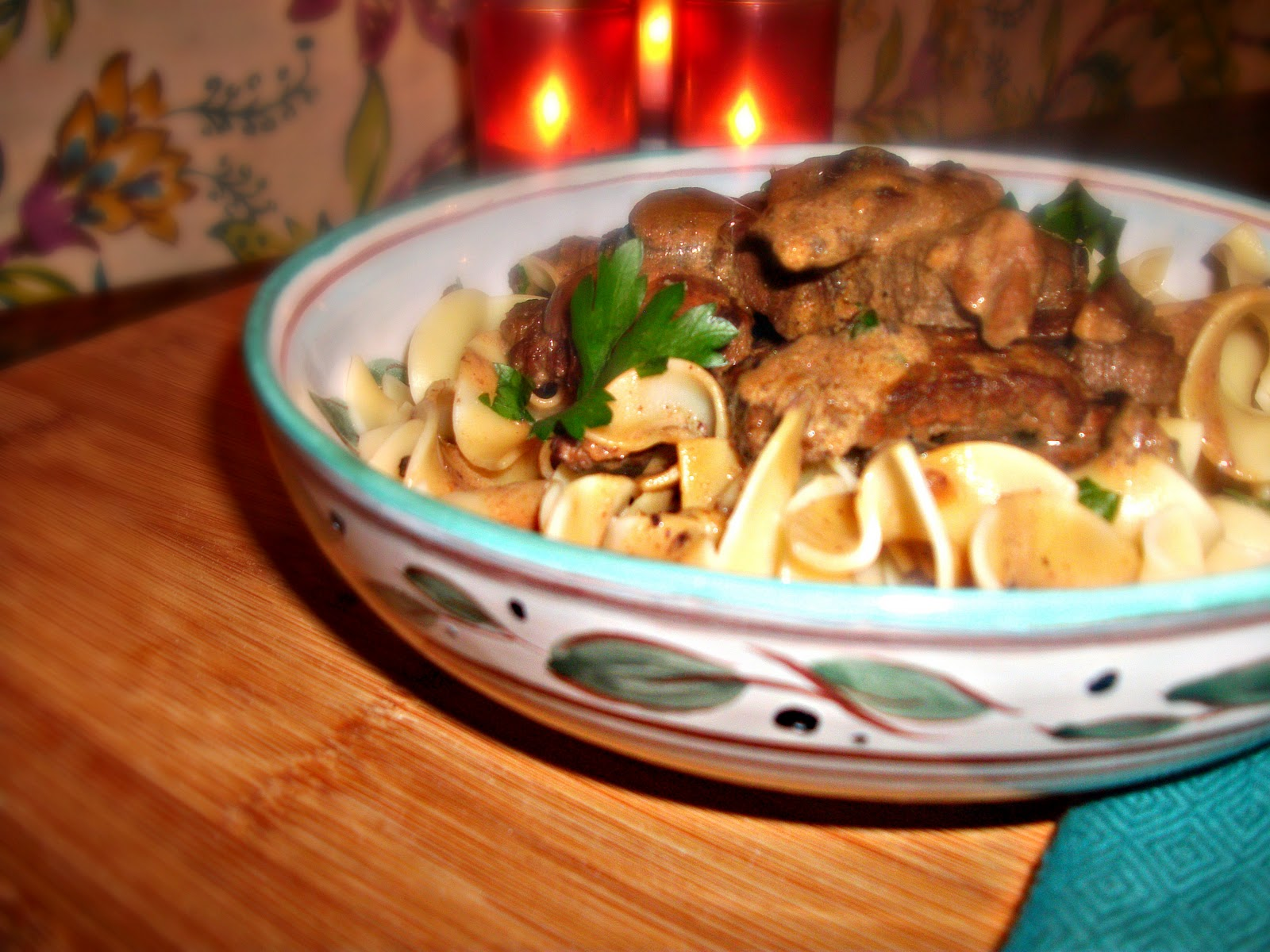 From Everyday to Gourmet: Beef Stroganoff Over Herbed Egg Noodles