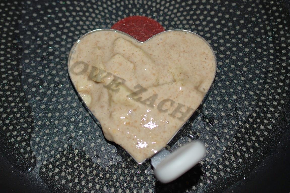 Smażenie placków serc