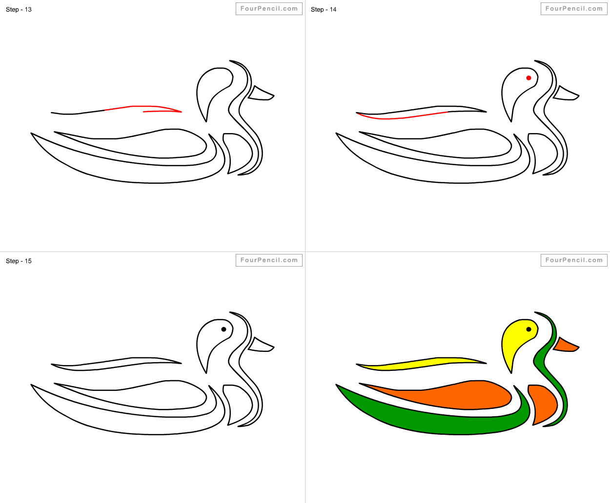 Uncategorized How To Draw A Duck For Kids fpencil how to draw duck for kids step by slide 1