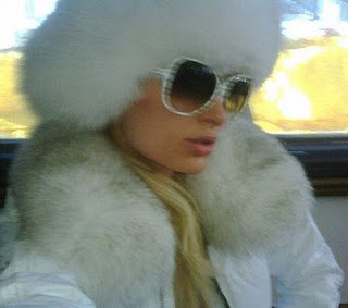 Paris Hilton snow bunny