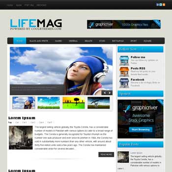 Life Mag blogger template. template blogspot free