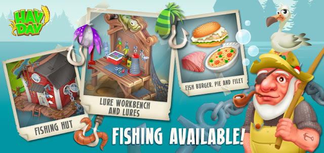 Angus, Fishing Hut,l Lures, Fish Burger