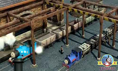 CGI movie Blue mountain mystery Thomas the tank engine narrow gauge locomotives an innovative appear