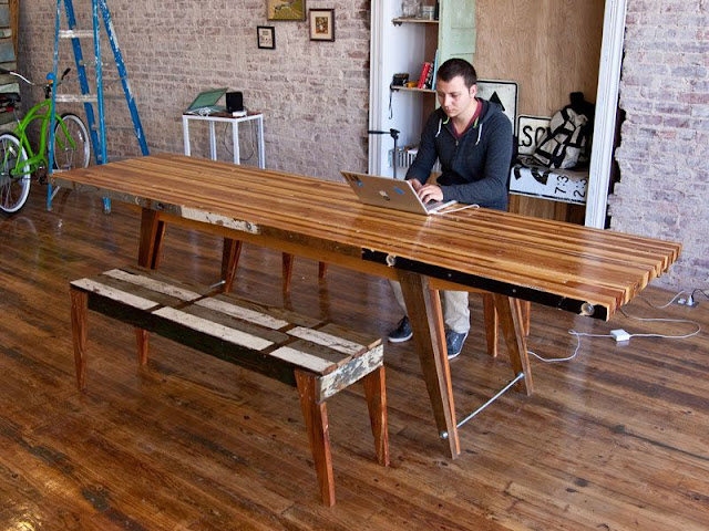 Scrap Table Desk or Dining Area