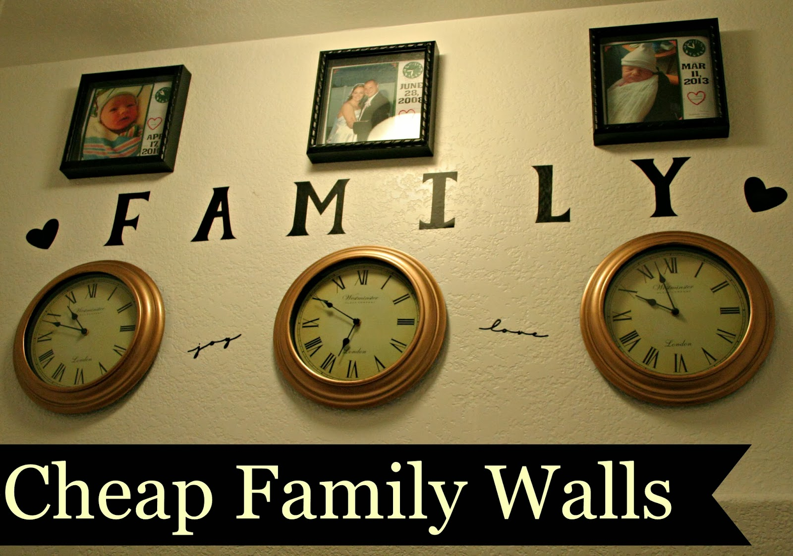 Cheap Family Wall Displays