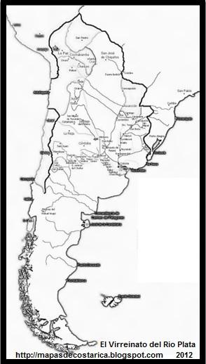 El Virreinato del Río de la Plata, blanco y negro