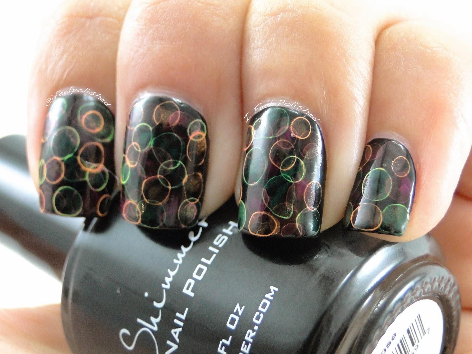 i feel polished neon jellyfish nails
