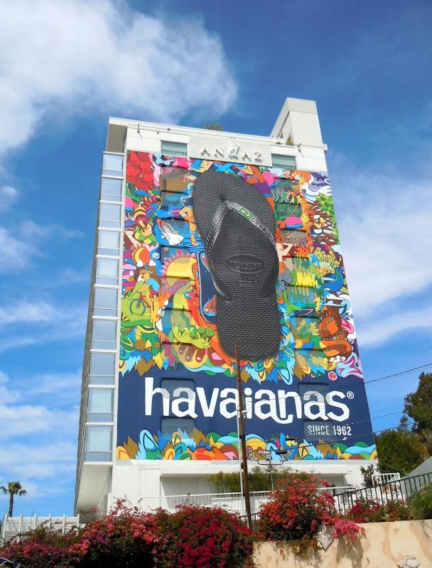 Giant Havaianas flip flops billboard