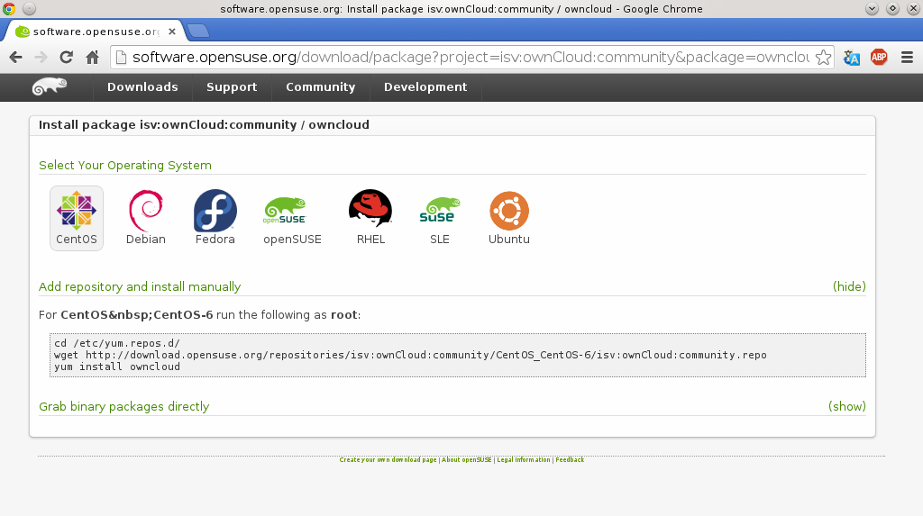 owncloud opensuse build service