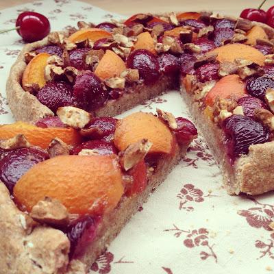 Galette cerises et abricots