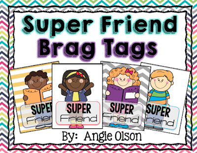 https://www.teacherspayteachers.com/Product/Super-Friend-Brag-Tags-1968758