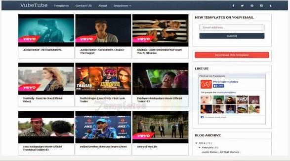 Vubetube Responsive Blogger Template For Video Blogging Blogger