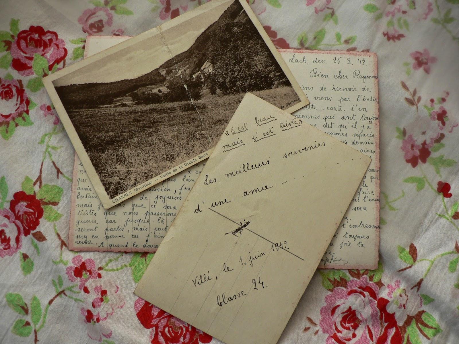 Quelques lettres de sa fiancée