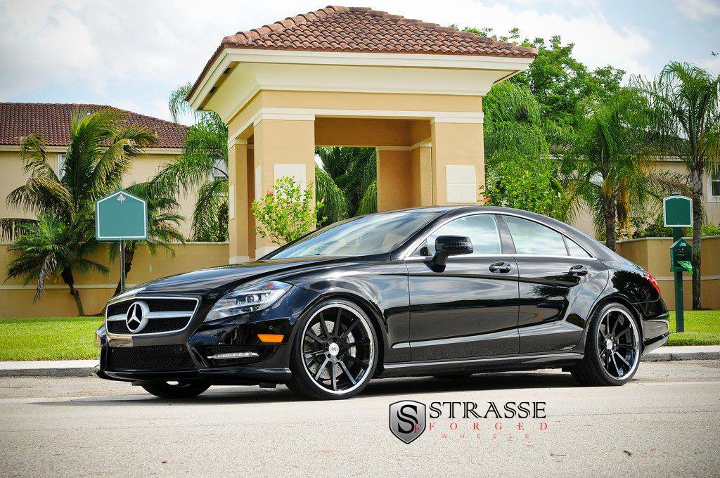 davide458italia mercedes benz cls 550 on strasse forged wheels. Black Bedroom Furniture Sets. Home Design Ideas