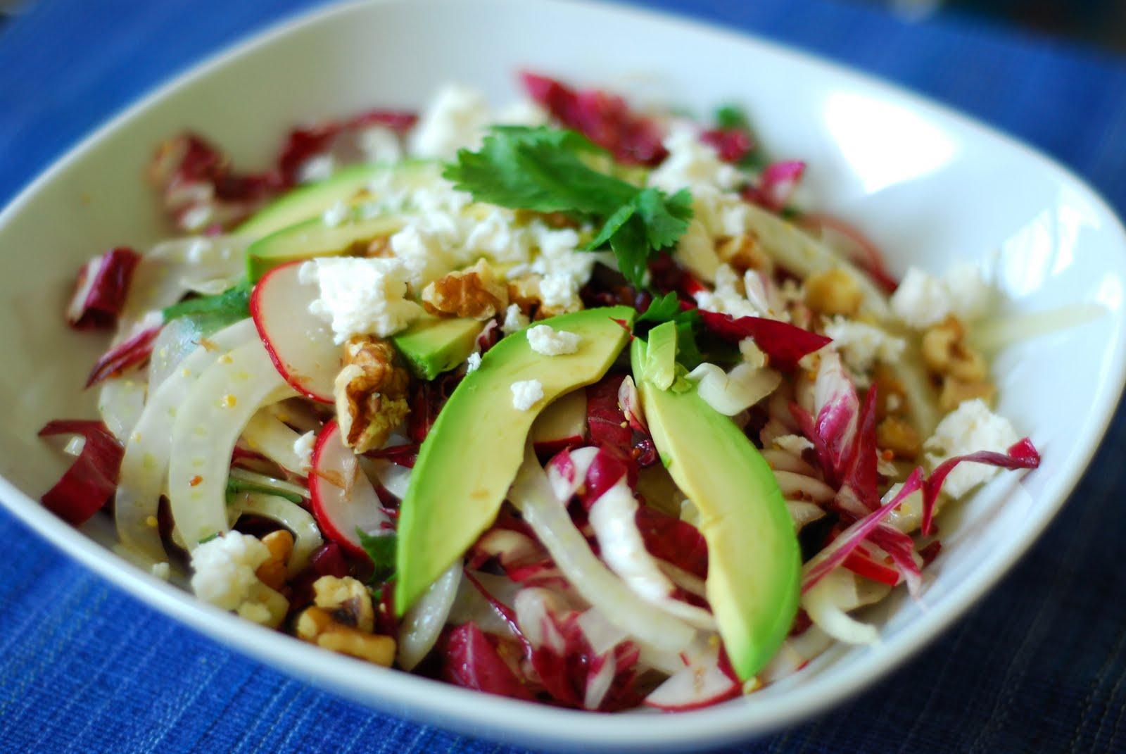 Le granola pic salade de fenouil radis et radicchio avec avocat et feta - Quand cueillir les radis ...