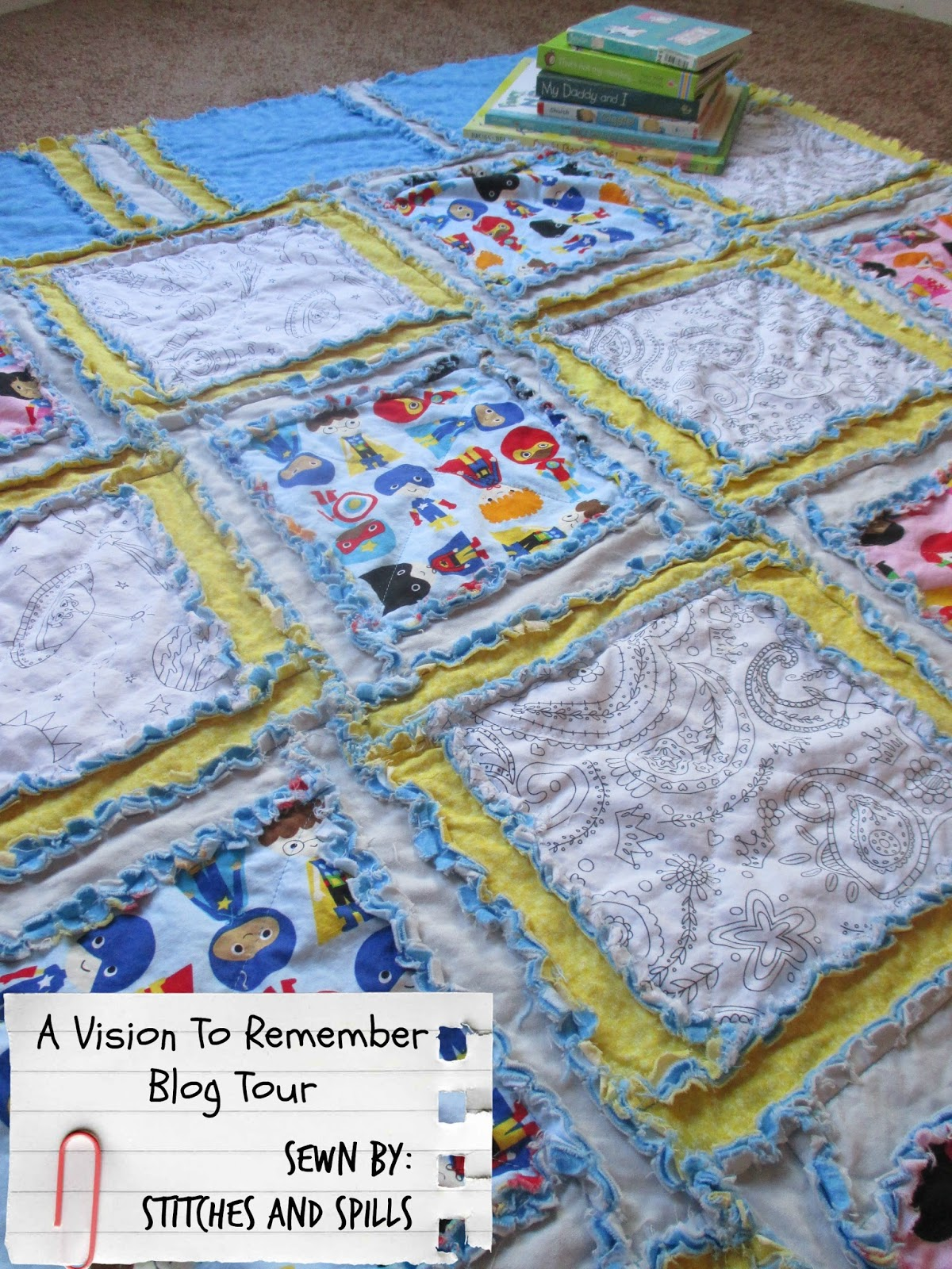 Stitches and spills a vision to remember blog tour easy peasy rag a vision to remember blog tour easy peasy rag quilt gumiabroncs Gallery
