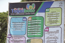 Total Keseluruhan Acara Festival Tegal Boto 2013 Universitas Jember