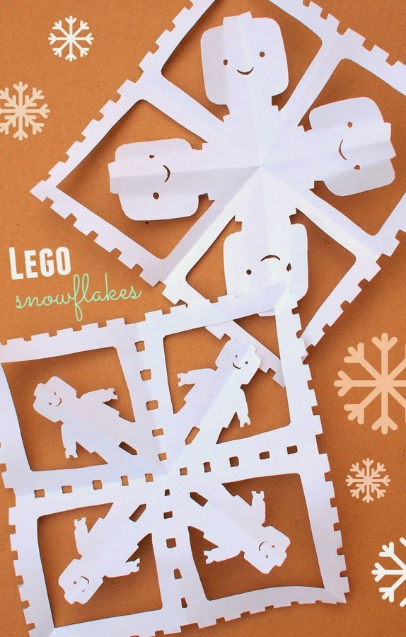 how  to  cut  lego  snowflakes