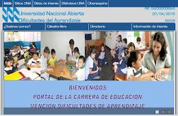 Nuevo Portal Dificultades de Aprendizaje de la UNA