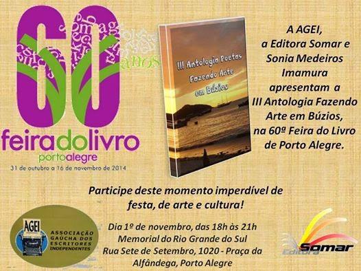 III Antologia Poetas Fazendo Arte em Búzios na  Feira do livro em Porto Algre