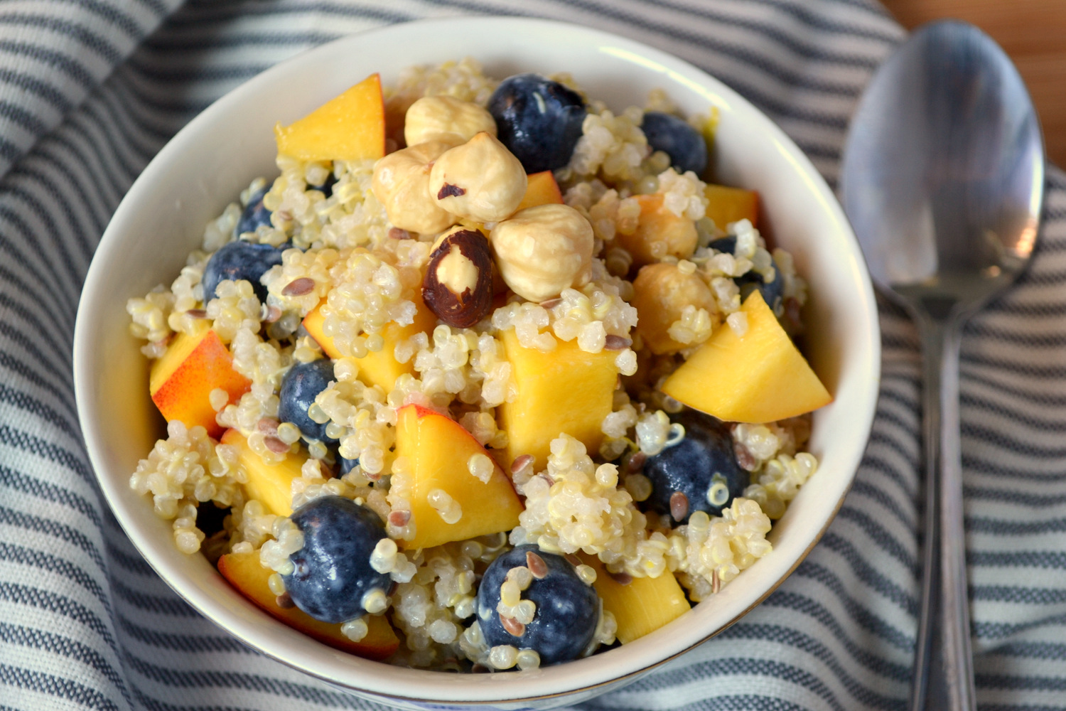 Test Kitchen: Blueberry Quinoa Breakfast Salad