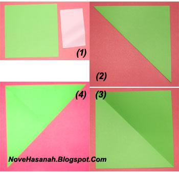 langkah-langkah cara melipat kertas origami untuk anak-anak berbentuk payung yang mudah sekali 1