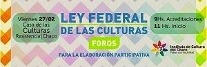 Foros Ley Federal de las Culturas