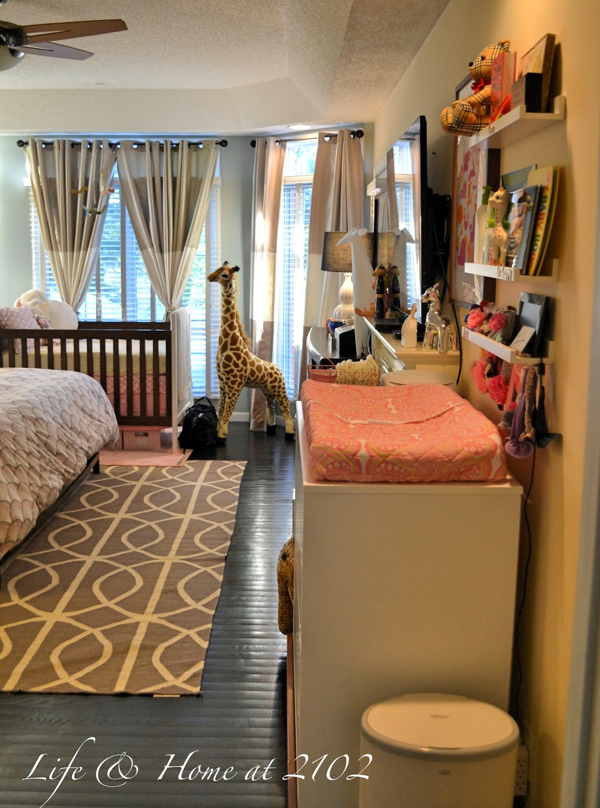 Life & Home at 2102: Master Bedroom with Nursery REVEAL! Nursery In Master Bedroom on nursery sets and collections, crib in our bedroom, baby crib in bedroom, nursery in guest bedroom,