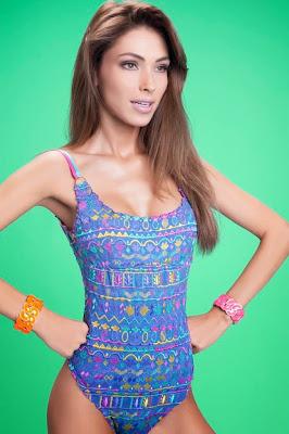 Brazilian model Diana Villas Boas hot body poses in sexy bikini for Flavia Padovan Swimwear Model